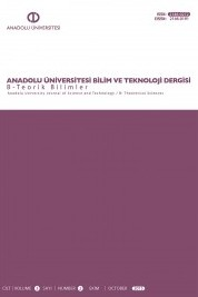 Anadolu Üniversitesi Bilim Ve Teknoloji Dergisi - B Teorik Bilimler